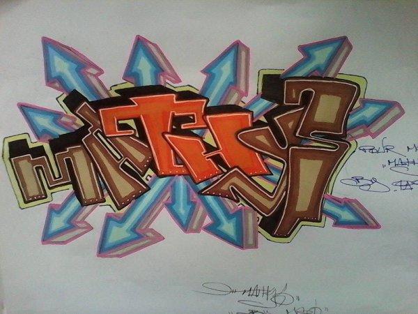 dessin by moi  3D MATHYS le prenom de mon fils !!