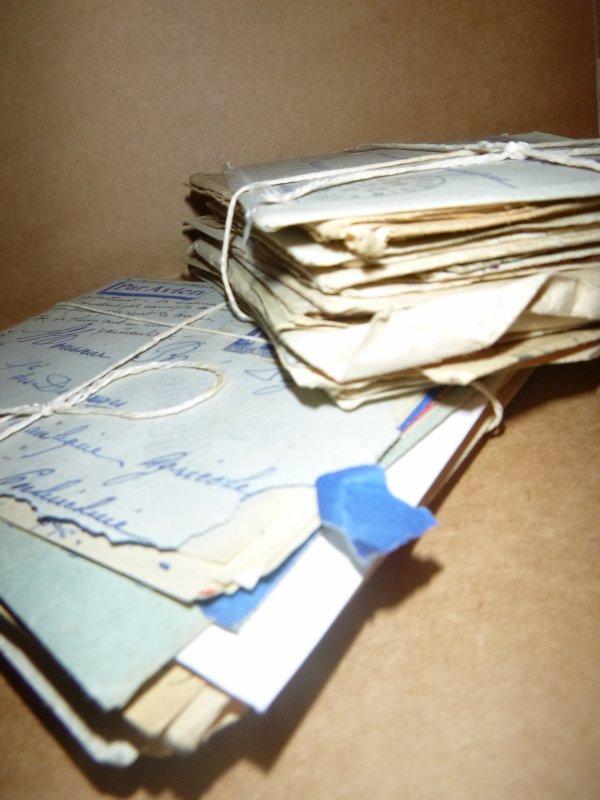 Les enveloppes.