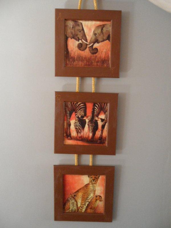 3 cadres animaux de la Savane