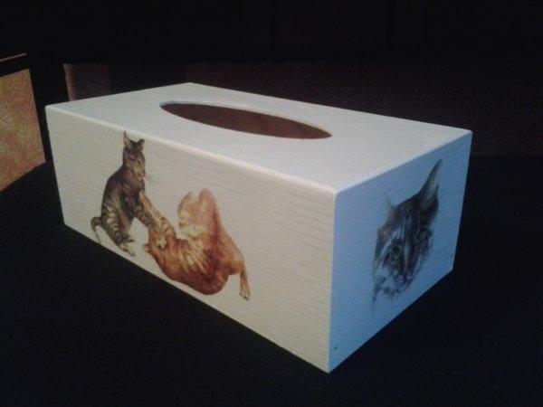 boite mouchoirs Chats pour SPA