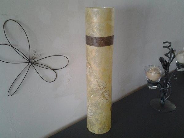 vase ht 48 cm diam 10cm theme feuilles