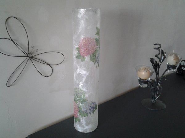 vase hortensias ht 48 diam 10cm