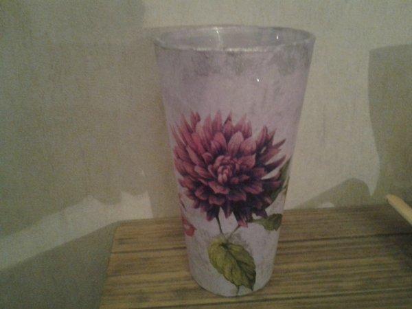 vase mauve fleurs dispo