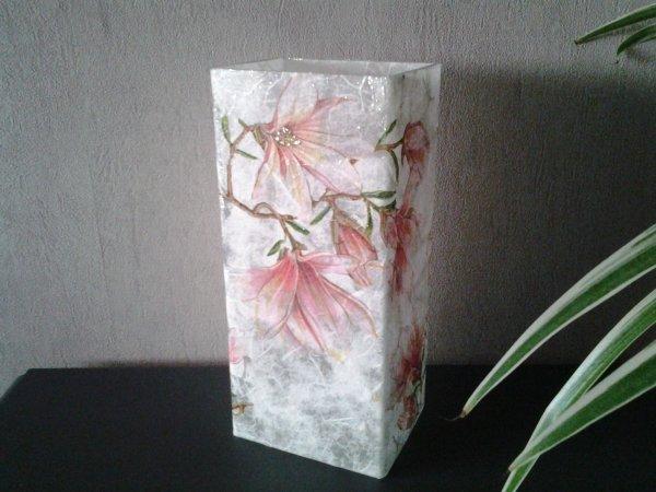 vase rectangulaire Magnolias