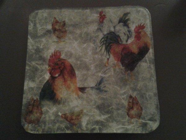 coupelle coqs et poules