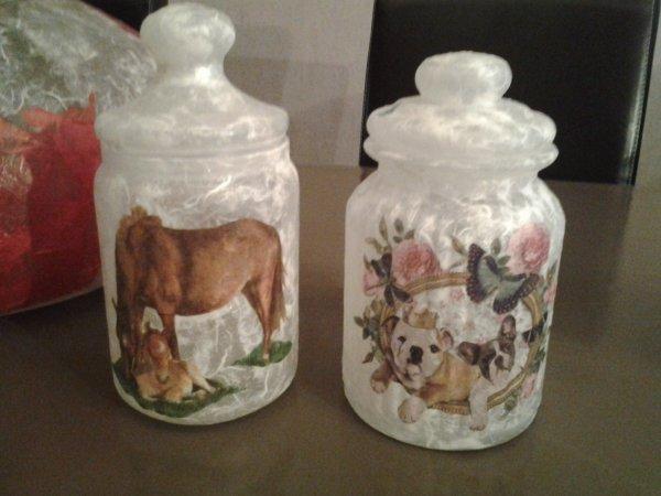 Bonbonniere Bouledogue et chevaux
