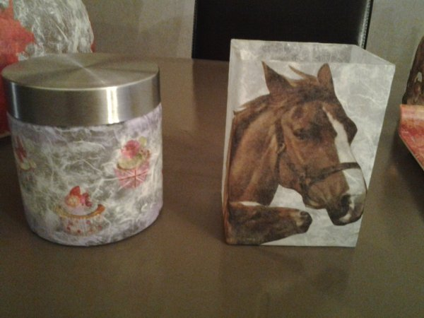 Bonbonniere Cup cakes et pot crayon cheval