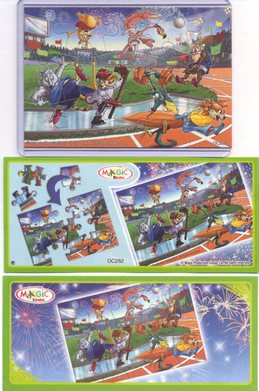 Kinder Puzzle Sporty animal Asie 2012