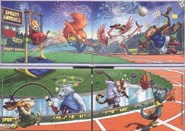 Kinder Puzzles Sporty Animal Pays de l'est 2012