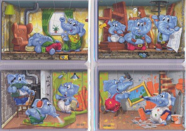 Kinder Puzzles Elephanten 2011 Allemagne