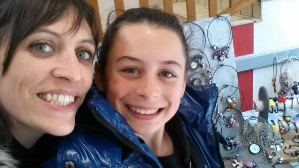 Avec ma filleule Camille!!!