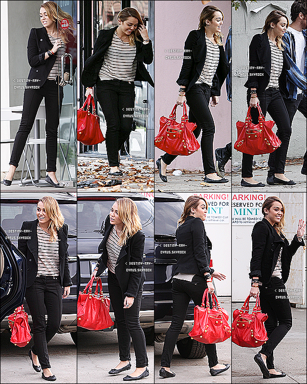 .  04/11/11 - Miley, son amis Vijat et son BFF Cheyne ont été faire du shopping chez Best Buy à Hollywood ! .