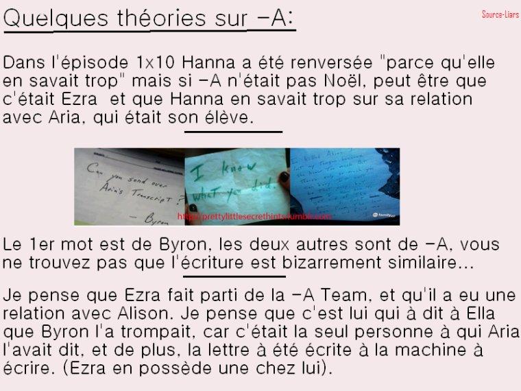 Mes théories sur -A.
