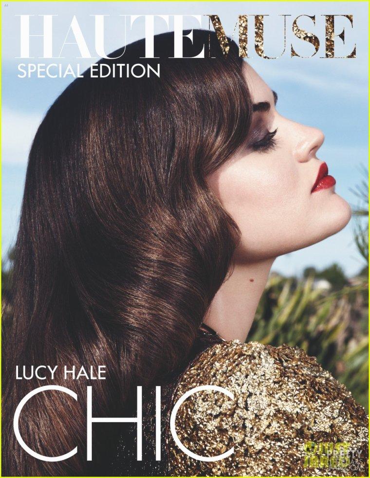 """5 septembre 2012 - Lucy en couverture du magazine """"HauteMuse"""""""