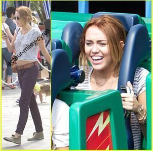 Miley Cyrus ce rend a Disneyland ce samedi 5 mai