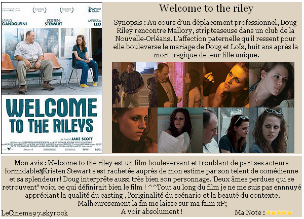 Welcome to the Riley : Coup de ♥