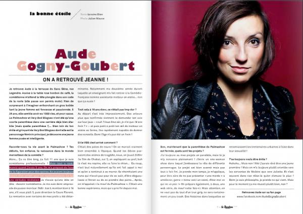 "COTER FACEBOOK - COTER TWITTER - INTERVIEW D'AUDE GOGNY-GOUBERT via ""LE BONBON"" -"