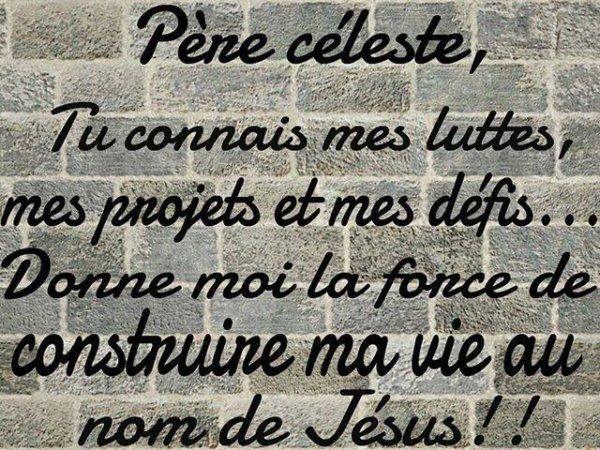 Que cette prière soit la nôtre à tous!