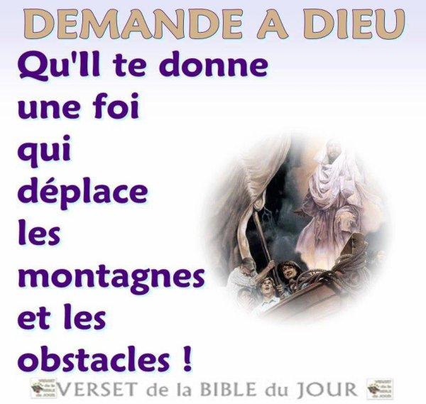 Si nous avons la foi, cela ne peut être que sur la base de la Parole du Seigneur !