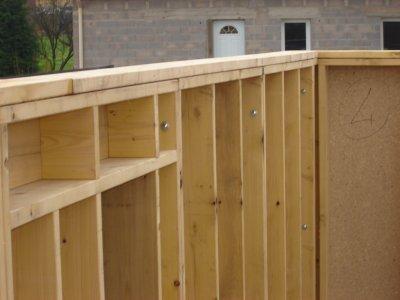 Rdc pose de la lisse haute auto construction ossature bois for Lisse haute ossature bois
