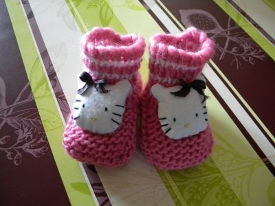 PETITS CHAUSSONS ROSE