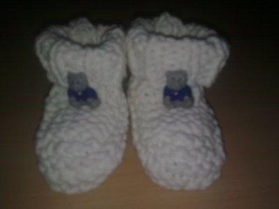 Chaussons pour le bébé d'une collègue