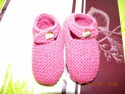 Les petits chaussons rose