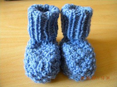 les chaussons qui vont avec la cape bleu