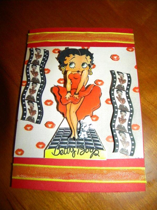 Cartes 3D Betty Boop