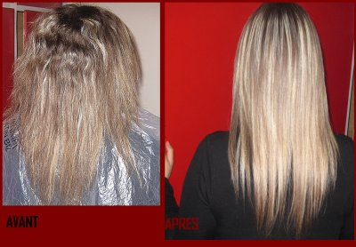 Lissage keratine cheveux abimes