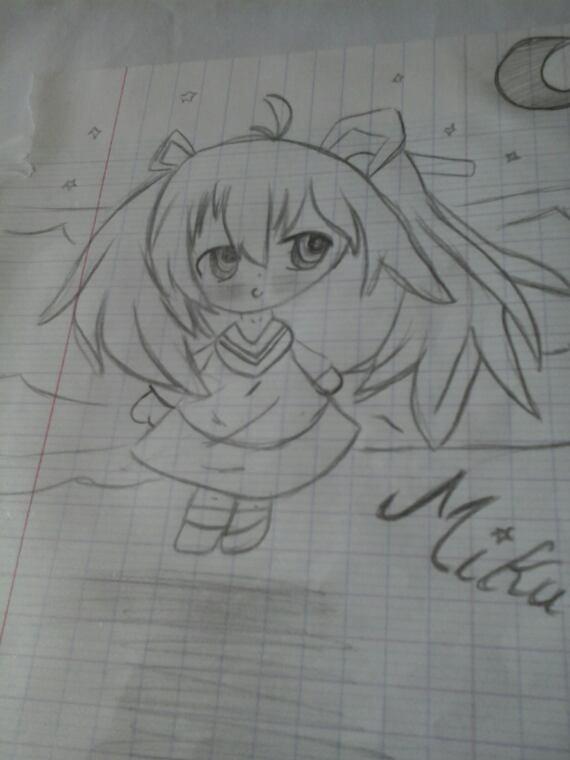 Hastune miku au crayon de papier