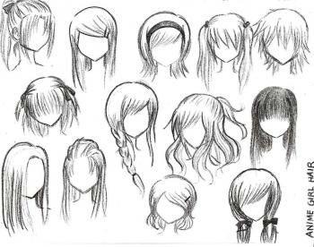 Modèle de cheveux manga
