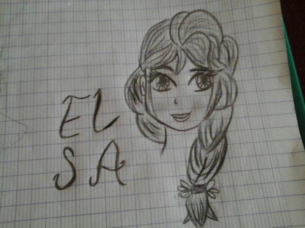 Mon dessin de elsa la reine des neige