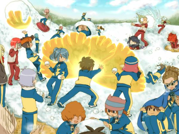 bataille de boule de neige facon inazuma eleven