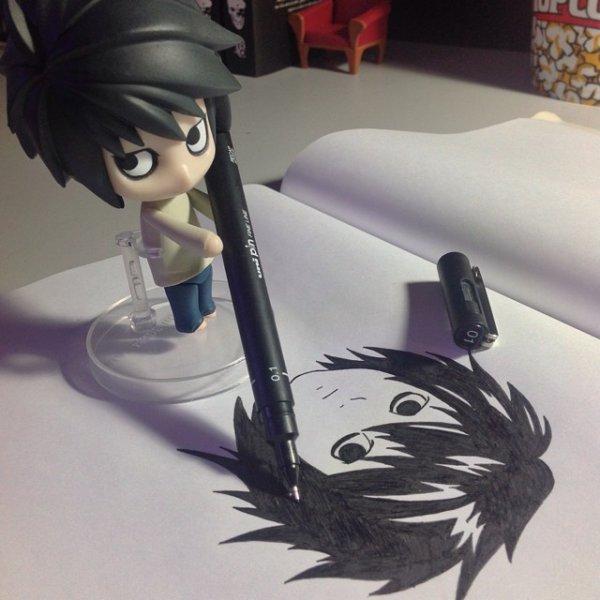 NEW La figurine qui dessine