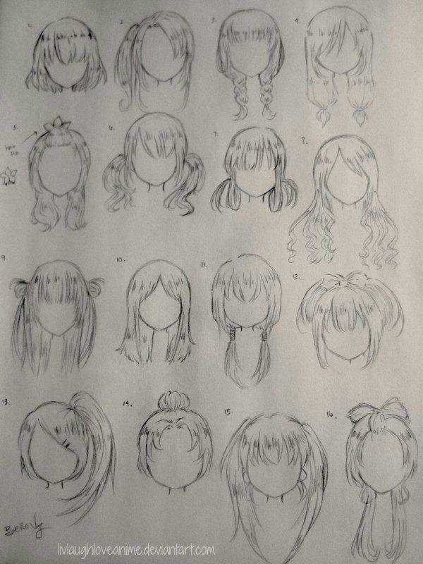 Nouveau modèle de cheveux manga