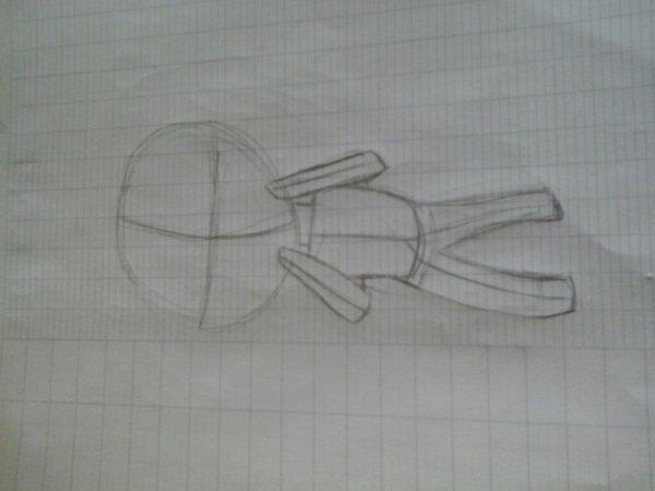 Voilà le croquis de mon nouveau dessin