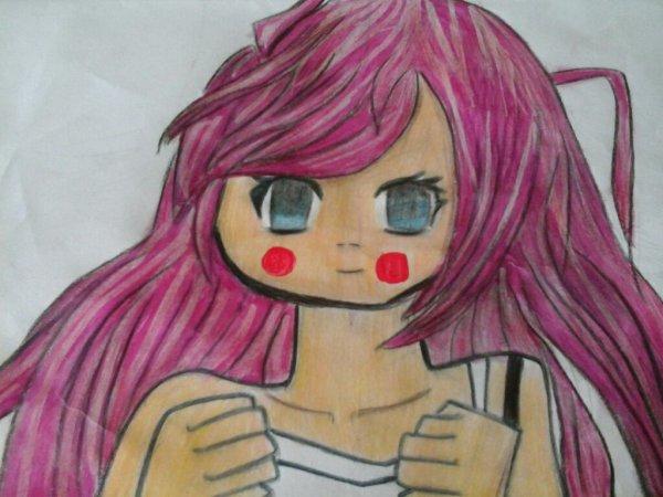 Un portrait manga fille pour ma cousine