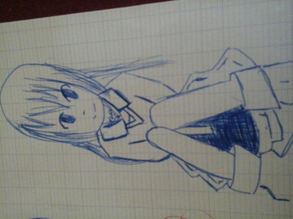 Petit dessin pendant que je parlais avec une amie sur Skype