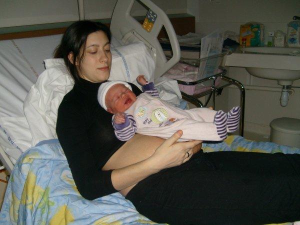 moi et ma fille a la maternité