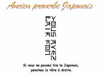 Proverbe japonnai :)