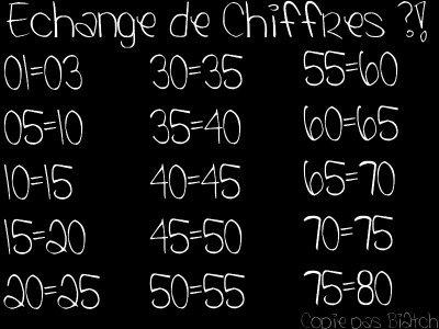 Echange DE Chiffres