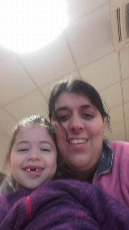 Moi et ma fille qui beaucoup grandi