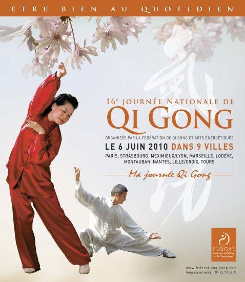 Adopte la Zen attitude grâce au Qi Jong  La 16e Journée nationale du Qi Gong se déroule le 6 juin dans neuf villes de France. Une discipline qui apporte santé et bien-être. Comment découvrir et pratiquer le Qi Gong ? W-O-A va être votre guide.