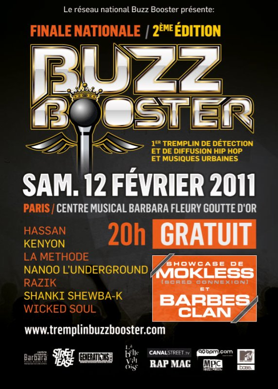 SHOWCASE MOKLESS - BARBES CLAN LE 12 FEVRIER!!!!