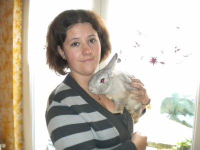 moi et mon petit lapin