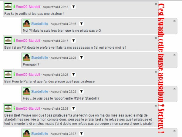 Stardollette - Fausse Accusation ? Rolala moi sa me saoule ..