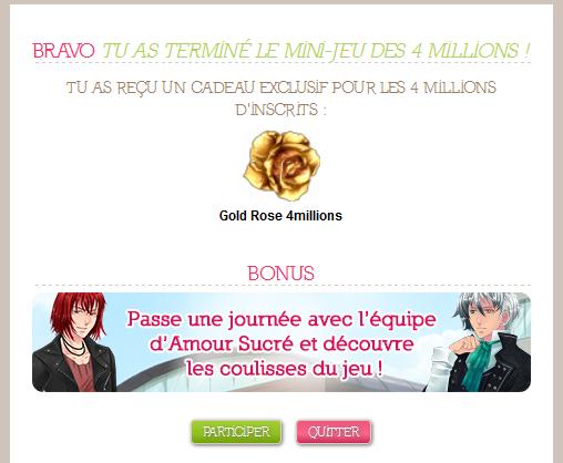 ♫ ♥ ♫ ♥ Quatre millions d'inscrits sur Amour sucré ! :D  ♫ ♥ ♫ ♥