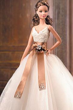 robe de mari e monique lhullier barbie de collection