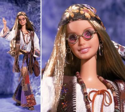 barbie 70 hippie peace love barbie de collection. Black Bedroom Furniture Sets. Home Design Ideas